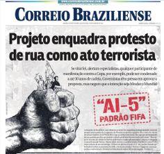 """Correio Braziliense publica primeira página """"corajosa"""" - Adnews - Movido pela Notícia"""