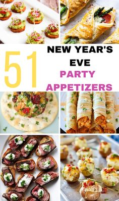 New Years's eve party appetizers are a crowds favorite! These party finger foods are a great to ring in the New Yesr to help you celebrate with friends! Best Party Appetizers, New Year's Eve Appetizers, Popular Appetizers, Appetizers For A Crowd, Easy Party Food, Finger Food Appetizers, Yummy Appetizers, Appetizers For New Years, Appetizers For Christmas