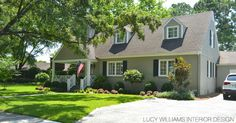 LUCY WILLIAMS INTERIOR DESIGN BLOG: BEFORE AND AFTER: THE EXTERIOR OF OUR HOUSE
