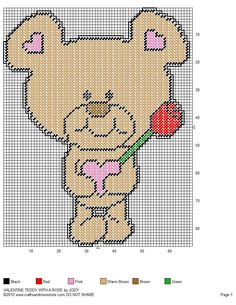 VALENTINE TEDDY WITH ROSE by JODY VIGEANT -- WALL HANGING 2/2