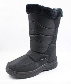 MS2501 Black Ladies Snow Boots 11 *** Check out this great product.(This is an Amazon affiliate link and I receive a commission for the sales)