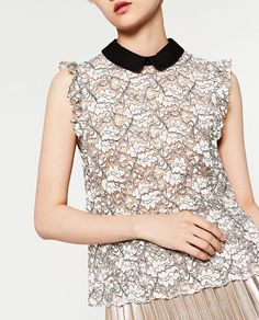 Image 4 of LACE TOP from Zara