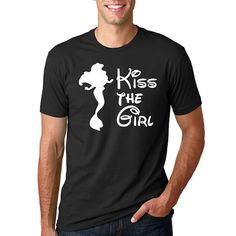 "Disney's ""Kiss the Girl"" Little Mermaid Shirt // Ariel // Plus Size Disney // Princess Ariel Shirts // Adult Disney Shirt // Men's Disney"