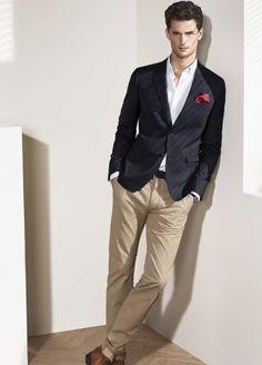 Men's business casual   MQ Spring-Summer 2014   Garrett Neff