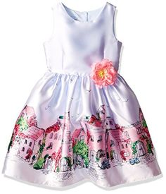 Pippa  Julie Big Girls Border Print Party Dress Blue 14 * You can find more details by visiting the image link.Note:It is affiliate link to Amazon.