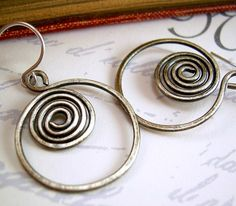 Oxidized Sterling Earrings Wire Wrapped by KiawahCollection, $16.95