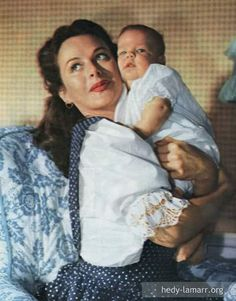 Hedy Lamarr with baby