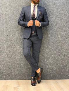 Marc Dress Suits For Men, Men Dress, Suit Vest, Vest Jacket, Mens Fashion Suits, Mens Suits, Navy Slim Fit Suit, Moda Formal, Classy Men