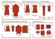 Medidas de roupas para armários