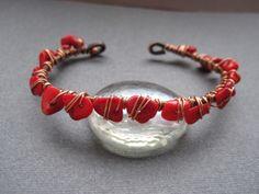 Маша - Copper coral bracelet. By Mary Bulanova