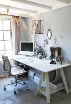 Pretty shabby chic work space – Chic Home Office Design