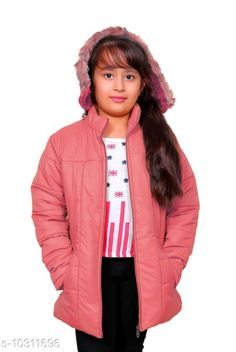 Jackets & Coats StreetLine Pink Stylish Kids Girls Jacket Fabric: Nylon Sleeve Length: Long Sleeves Pattern: Solid Multipack: 1 Sizes:  4-5 Years (Length Size: 20 in Waist Size: 13 in Hip Size: 15 in)  5-6 Years (Length Size: 21 in Waist Size: 14 in Hip Size: 16 in)  10-11 Years (Length Size: 25 in Waist Size: 18 in Hip Size: 20 in)  3-4 Years (Length Size: 19 in Waist Size: 12 in Hip Size: 14 in)  8-9 Years (Length Size: 23 in Waist Size: 16 in Hip Size: 18 in)  7-8 Years (Length Size: 22 in Waist Size: 15 in Hip Size: 17 in)  9-10 Years (Length Size: 24 in Waist Size: 17 in Hip Size: 19 in)  Country of Origin: India Sizes Available: 3-4 Years, 4-5 Years, 5-6 Years, 6-7 Years, 7-8 Years, 8-9 Years, 9-10 Years, 10-11 Years *Proof of Safe Delivery! Click to know on Safety Standards of Delivery Partners- https://ltl.sh/y_nZrAV3  Catalog Rating: ★4.3 (406)  Catalog Name: Modern Stylus Girls Jackets & Coats CatalogID_1872424 C62-SC1153 Code: 547-10311696-