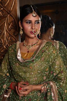 #bride in #gorgeous #Gharara and #jewellery by #GhararaStudio. Mail or whatsapp us to order or to get your customised Gharara made.   #gharara4u #ghararadesign #bridalgharara #bridallehenga #lehenga #weddinggharara #diva #party #partygharara #gorgeous #fashion2014