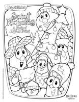 Veggie Tales Christmas Coloring Pages