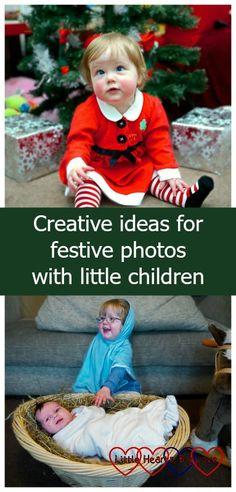 Creative ideas for festive photos with little children - our Christmas card photo album - Little Hearts, Big Love