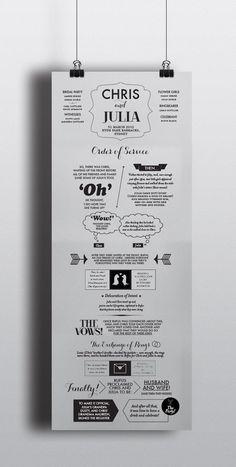 3 Panel Custom Wedding Order of Service Illustration on Etsy, £144.57
