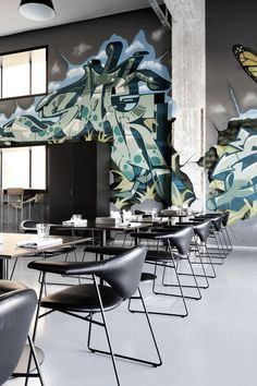 Chicou0027s Restaurant By Amerikka Design Office.....and A Nice Erika Badu  Painting In The Back | Creative, Art, Commercial Spaces | Pinterest |  Restaurants, ...