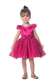 Vestido de Festa Infantil Pink Luxo Petit Cherie