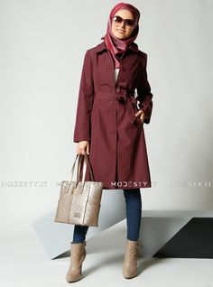 islamische kleidung fuer frauen mymodestystyle.com besuchen sie unsere shop #hijab #abayas #tuekische kleider #abendleider #islamischekleidung  Button Topcoat - Maroon - Refka - <p>Fabric Info:</p> <p>100% Polyester</p> <br> <p>Full Lined</p> <p>Weight: 0.704 kg</p> <p>Measures of 38 size:</p> <p>Height: 98 cm</p> <p>Bust: 90 cm</p> <p>Waist: 82 cm</p> <p>Hips: 94 cm</p> - SKU: 232188. Buy now at http://muslimas-shop.com/button-topcoat-maroon-refka-167199.html