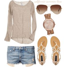 """Summer Breeze Outfit"" by california-summer-love on Polyvore love the top"