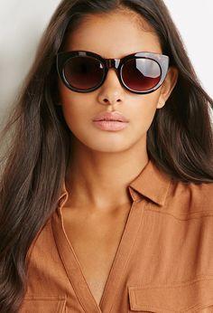 Tortoiseshell Cat Eye Sunglasses | Forever 21 - 1000154456