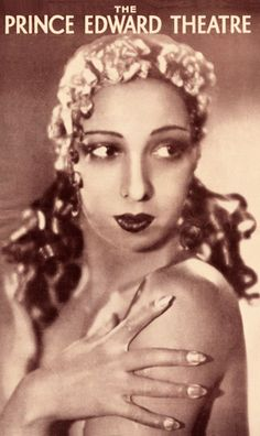 Josephine Baker, 1933, Printed programme for The Prince Edward Theatre, This programme is for the first appearance of La Baker on the London stage.