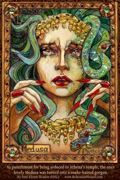 Medusa becoming a gorgon #BohemianWeasel #medusa