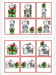 Christmas Words, Christmas Crafts For Kids, Christmas And New Year, Busy Boxes, Kindergarten, Education, Learning, School, Educational Games