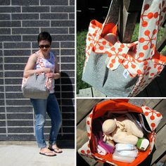 Made by Me Monday – Sew Much Ado Diaper Bag à la Thread Riding Hood {tutorial}