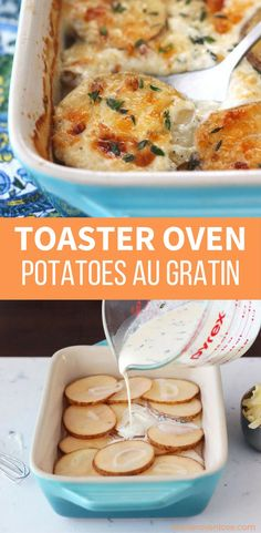 Toaster Oven Potatoes Au Gratin For Two Luscious, creamy, rich, and indulgent toaster oven potatoes au gratin for two. No tempting leftovers to worry about with this small batch recipe! via Toaster Oven Love Toaster Oven Cooking, Convection Oven Recipes, Toaster Oven Recipes, Convection Cooking, No Oven Recipes, Toaster Ovens, Microwave Recipes, Potato Recipes, Veggie Recipes