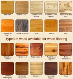 Home Decor, Beautiful And Elegant Types Of Flooring Material With The Best Quality With American Cherry Black Walnut And Brazilian Cherry Also Tigerwood And Australian Cypress And Hickory: Some Types Of Flooring Material For Your Reference Types Of Flooring Materials, Types Of Hardwood Floors, Real Wood Floors, Engineered Hardwood Flooring, Flooring Options, Flooring Ideas, Oak Flooring, Wood Walls, Vinyl Flooring