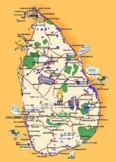 A pictorial map of Sri Lanka. #VisitSriLanka