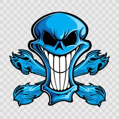 Skull Sticker Decal Evil Skull Tattoo, Skull Tattoos, Body Art Tattoos, Skeleton Drawings, Cool Drawings, Graffiti Art, Blue Ghost Rider, Totenkopf Tattoos, Classic Cartoon Characters