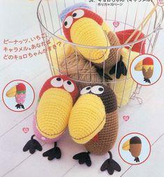 Crochet birds #amigurumi