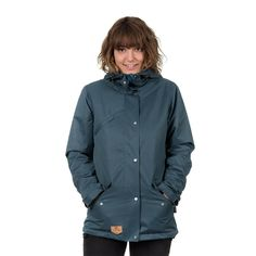 bleed clothing 958f functional parka washed blue ladies studio 01