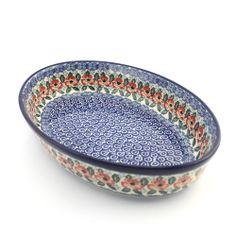 Baking dish - Polish pottery - This beautiful hand decorated ceramic baking dish can be used in dishwasher, microwave and oven every day. - Tato krásná keramická zapékací mísa se stane ozdobou každého stolu. Veškerá naše karamika je vhodná pro denní používání v myčkách, mikrovlnných i pečících troubách. Každý jednotlivý výrobek je odekorován ručně pod glazuru zkušenou umělkyní. Proto je každý náš výrobek originál.