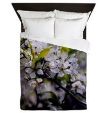 Apple blossoms Queen Duvet