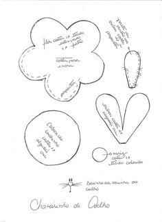 Moldes e Material dos Chaveirinhos Coelhinhos by Atelier Eu & Voce by Andrea Malheiros, via Flickr
