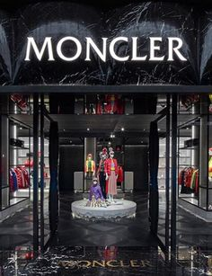 Sands Singapore, Moncler, Marina Bay Sands, Entrance, Retail, Bullet Journal, Neon Signs, Display, Architecture