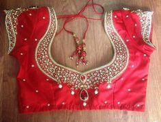 9 Latest Maggam Work Designs for Pattu Saree Blouses