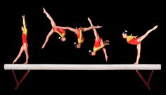 The Twisted Physics of 5 Olympic Sports   LiveScience - Gymnast flip on balance beam, frame by frame.