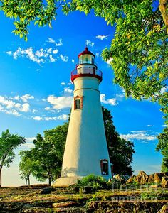 Lighthouse At Marblehead Fine Art Print by Nick Zelinsky