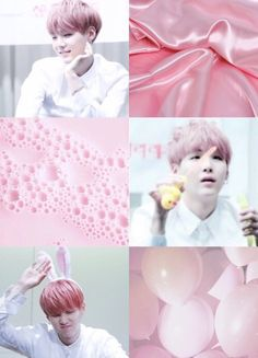pink, bts, and yoongi image