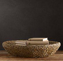 Woven Rattan Bowl