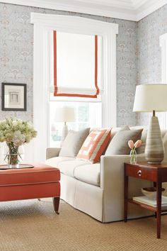 classic roman with contrast trim - love the simplicity and the pop of color