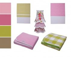 ... and lamp shades for a girls room in pink and green (all Little Dutch