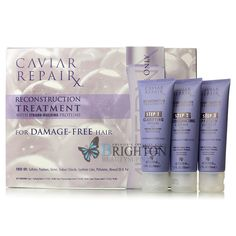 Alterna Caviar Rx Reconstruction Treatment designed to repair and recondition hair, making it feel younger, stronger and more radiant for up to 30 days.
