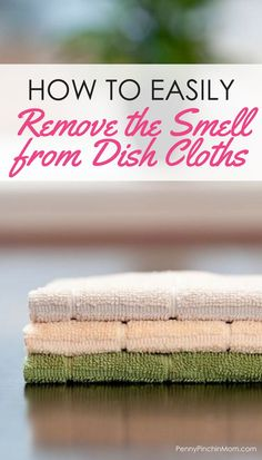 Simple cleaning idea: make kitchen rags like new again kitchen hack