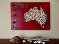 Landkarte Australien Down Under Holz & Wolle von BeauGrandMonde