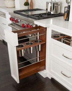 small kitchen storage design
